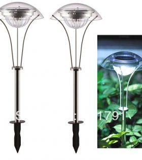 Free-Shipping-2-LED-Solar-Stainless-steel-garden-light-Solar-Landscape-Light-Lamp-Solar-lawn-Light