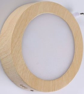 Đèn led ốp trần vân gỗ 12W Lezza