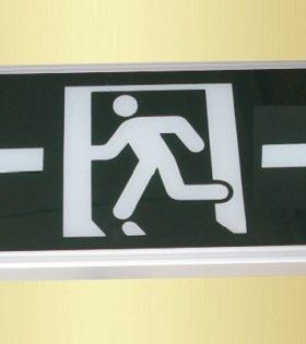 Đèn Exit thoát hiểm Lezza KT610 - chỉ 2 hướng