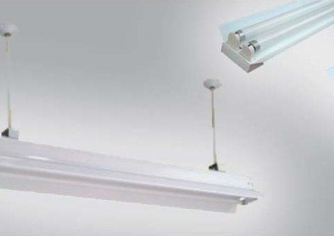 Máng đèn LED - Máng đèn phản quang treo trần Lezza 2x1.2