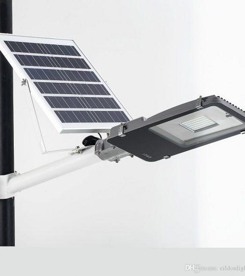 Đèn đường năng lượng mặt trời 80w chip SMD
